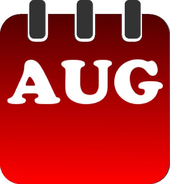 Calendar clipart aug Clker Art clip image art