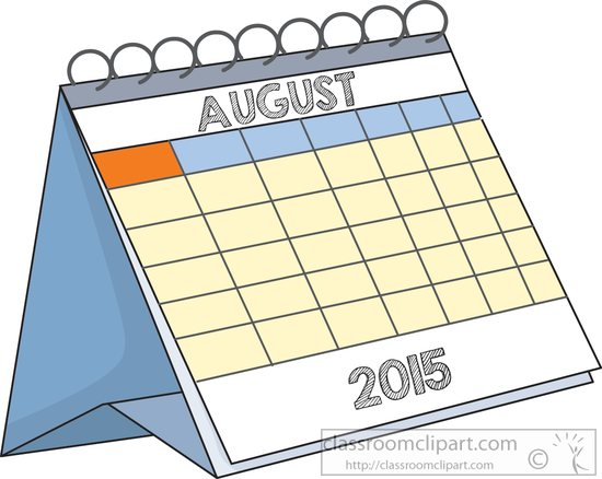 Calendar clipart aug August desk : august Calendar