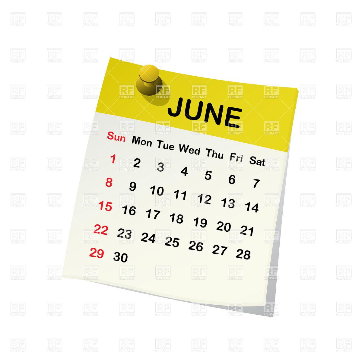 Calendar clipart calendar month Art Clip Calendar Month