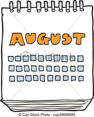 Calendar clipart calendar month Collection august clipart Calendar Vector