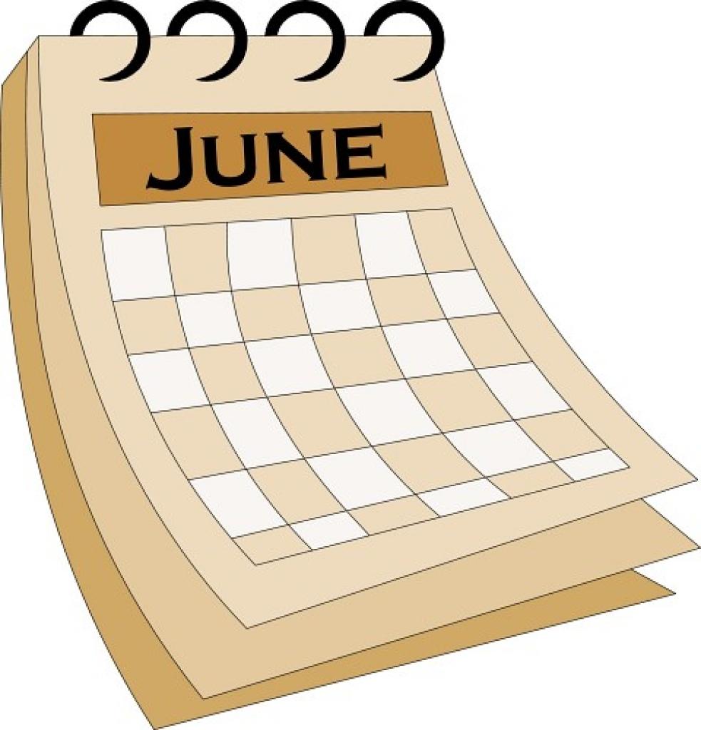 Calendar clipart calendar month Clipart Calendar Calendar 2016 June