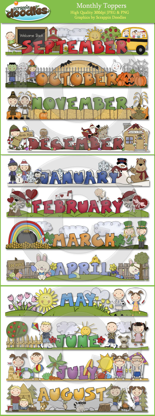 Calendar clipart calendar month Clipart calendar month August Monthly