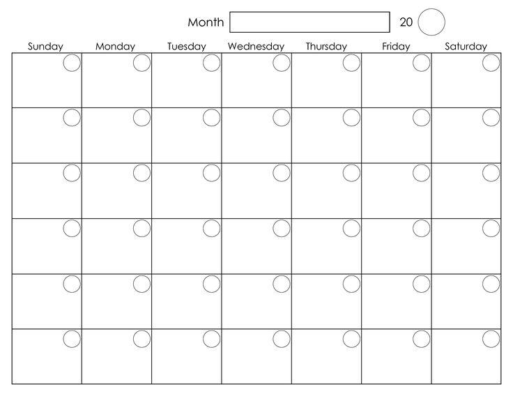 Calendar clipart calendar month Pinterest clipart on Calendar Blank