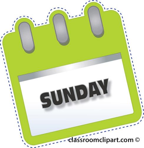 Saturday clipart calendar page #2