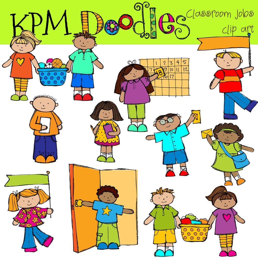 Door clipart classroom job Digital Helpers art Free