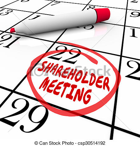 Calendar clipart company meeting Shareholder Shareholder Day Meeting Date