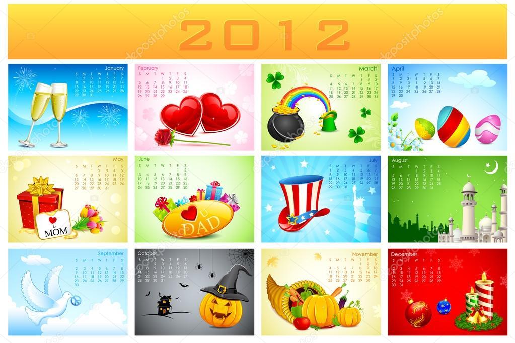 Holydays clipart calendar #14