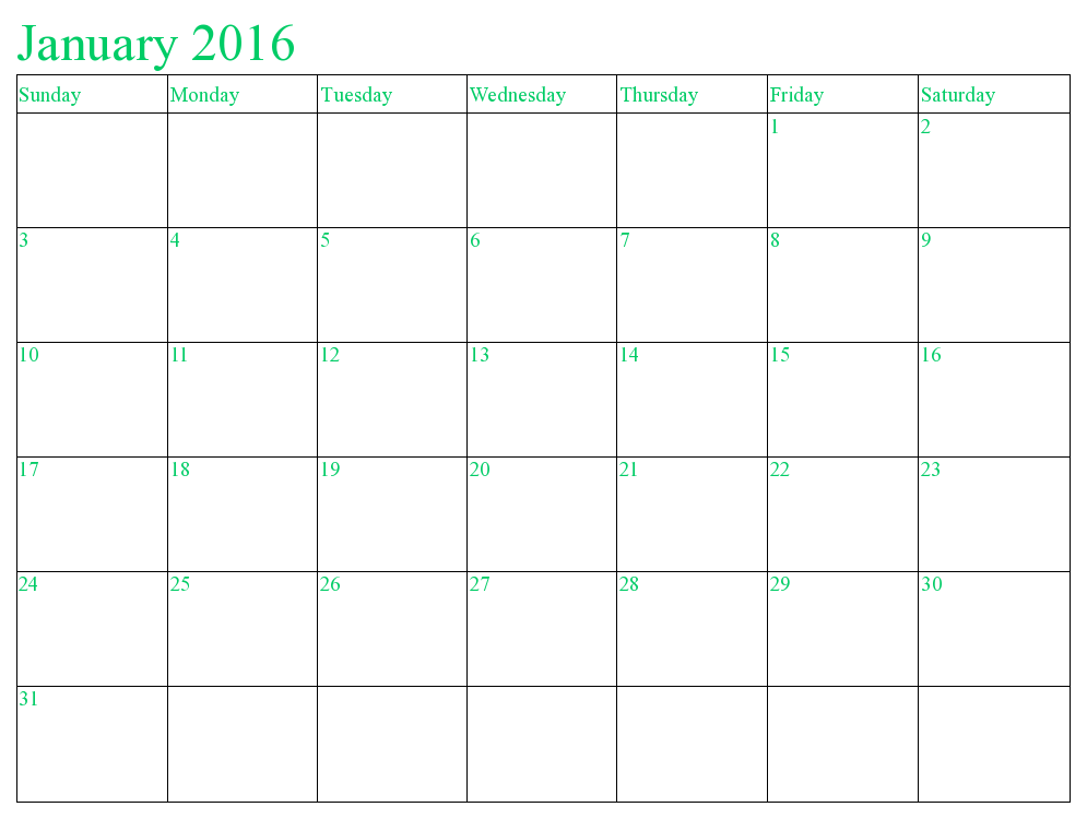 Calendar clipart january 2016 With calendars Clip Calendar January