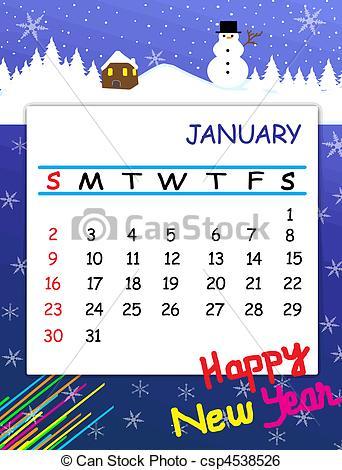 Calendar clipart january calendar ClipartFox 2016 calendar clipart january