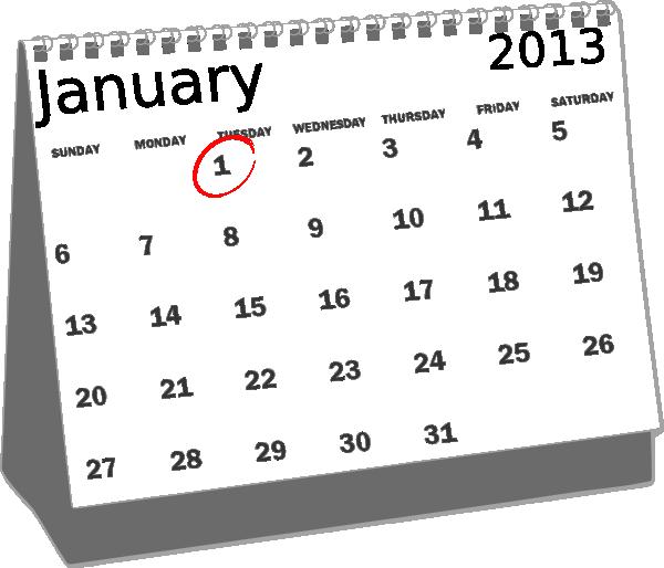 Calendar clipart january calendar As: clip com Calendar Clip