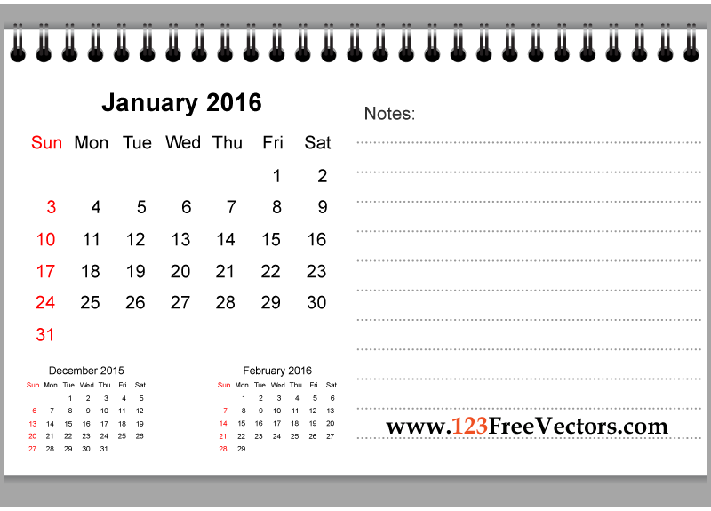 Calendar clipart january calendar Clipart january 2016 2016 for