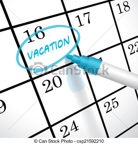 Vacation clipart vacation leave Word circle calendar a of