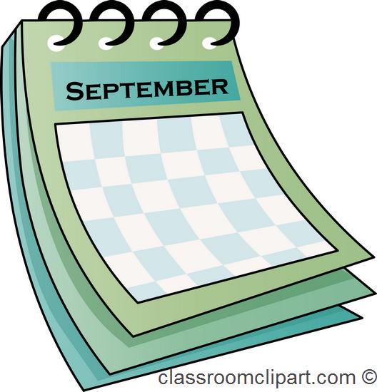 Calendar clipart november Clipart September Image Calendar September