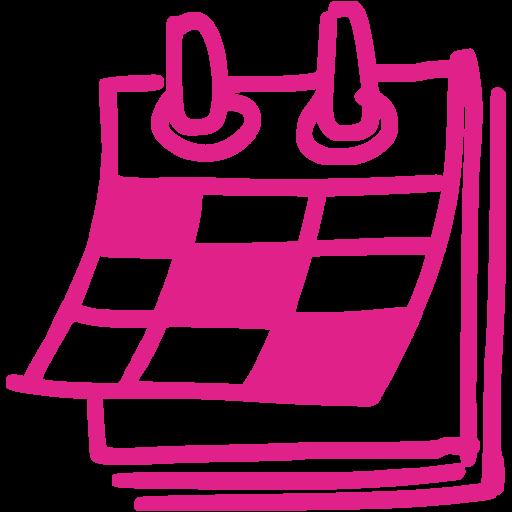 Calendar clipart pink Icon calendar pink icons calendar