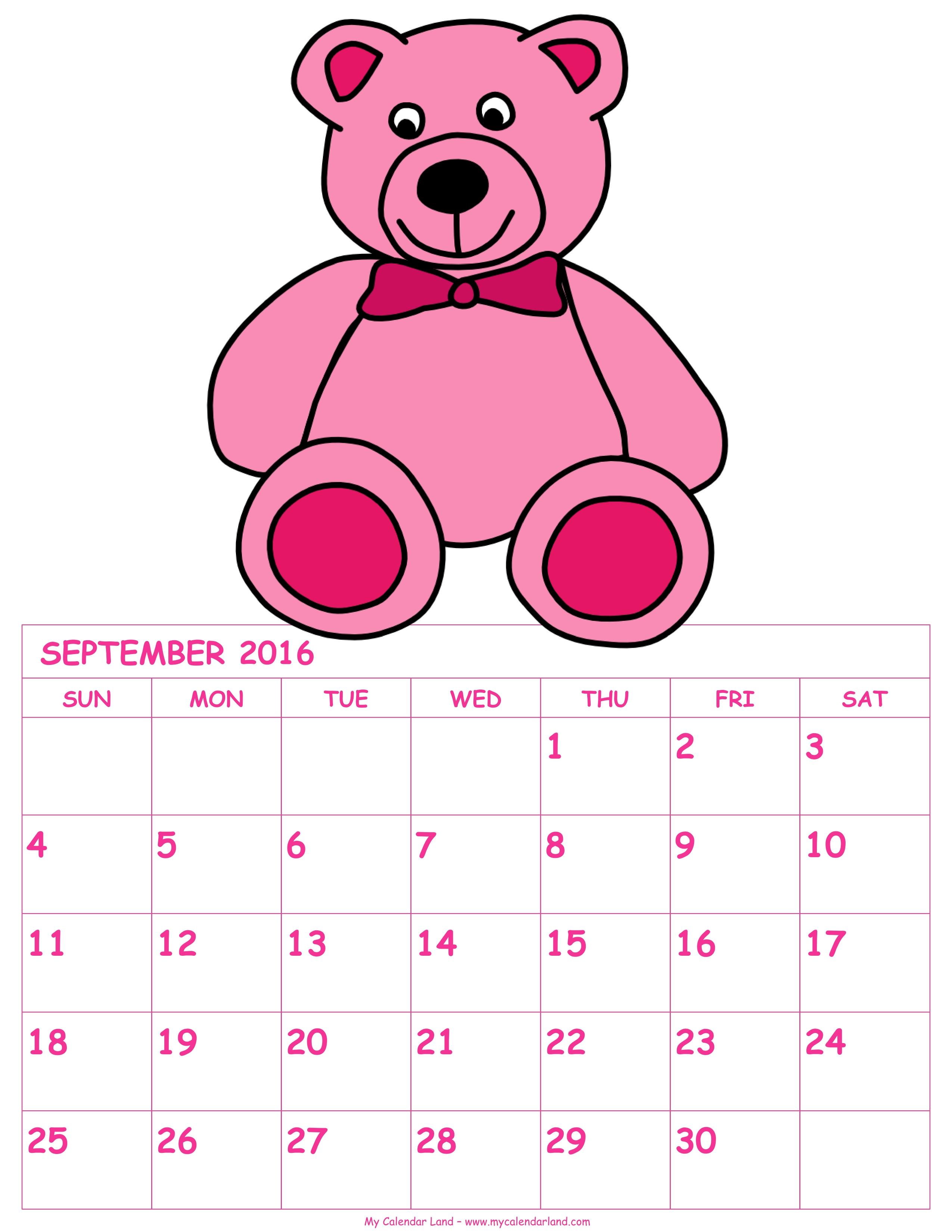 Calendar clipart pink Land Calendar Pink Calendar 2016