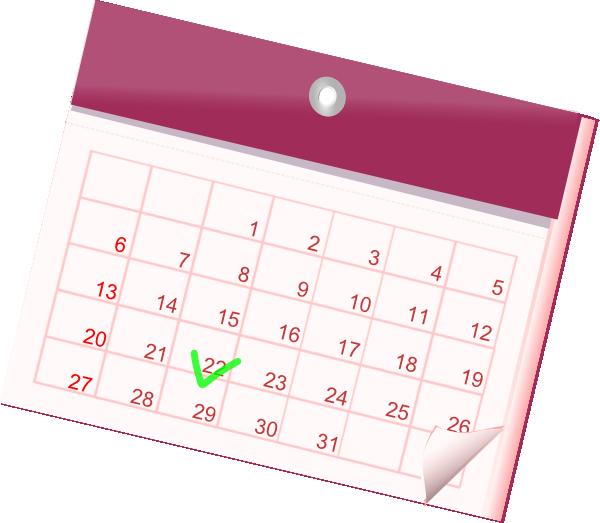 Calendar clipart pink Art vector com clip Clip