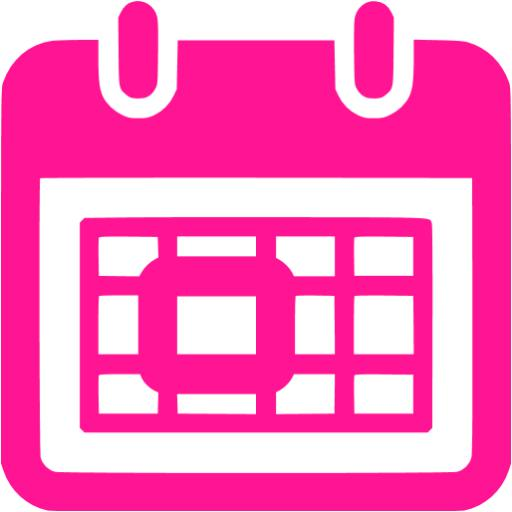 Calendar clipart pink Pink icon icons calendar Free