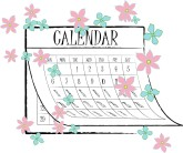 Calendar clipart pink Christmas Calendar Christmas The Clipart