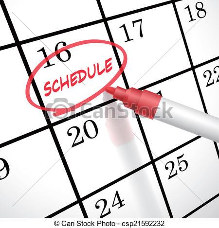 Calendar clipart scheduling Clipart Art Free Clipart Free
