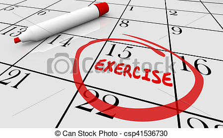 Calendar clipart scheduling Fitness Illustration Calendar Drawings Workout