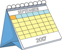 Calendar clipart september Kb Results desk Calendar desk