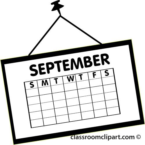 Calendar clipart september Images Art Calendar Clipart Free