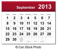 Calendar clipart september Free and calendar Clipart September