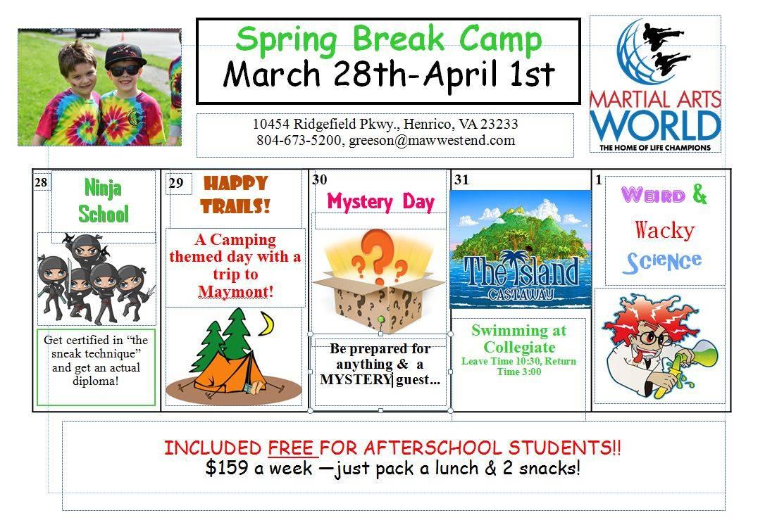 Camping clipart spring activity Camps in break for Break