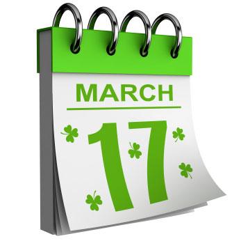 Calendar clipart st patricks day On Beach Free Clip Day