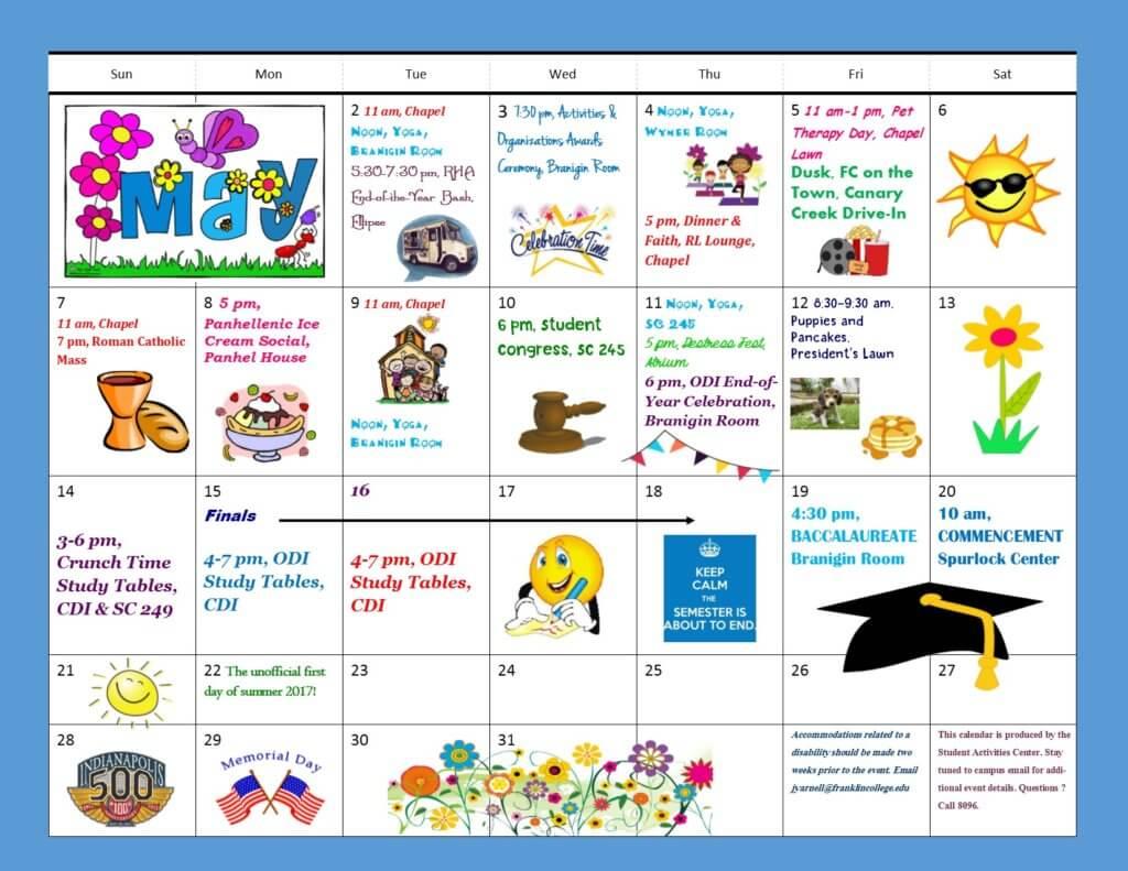 Calendar clipart team dinner (PDF) download calendar for College