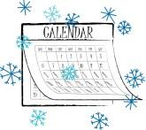 Calendar clipart winter Found 41 Headers ) Clipart