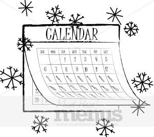 Calendar clipart winter Graphics Menu Clipart Calendar Winter
