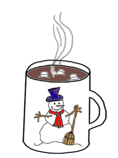 Winter clipart hot cocoa Winter Art Break BREAK Clip