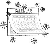 Winter clipart calendar MustHaveMenus( ) Calendar 41 found
