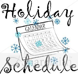 Winter clipart calendar Word Art Holiday Winter Calendar