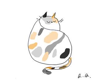 Calico Cat clipart Art Calico Illustration Cat Cat