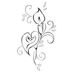 Calla Lily clipart Simple Calla lily lily