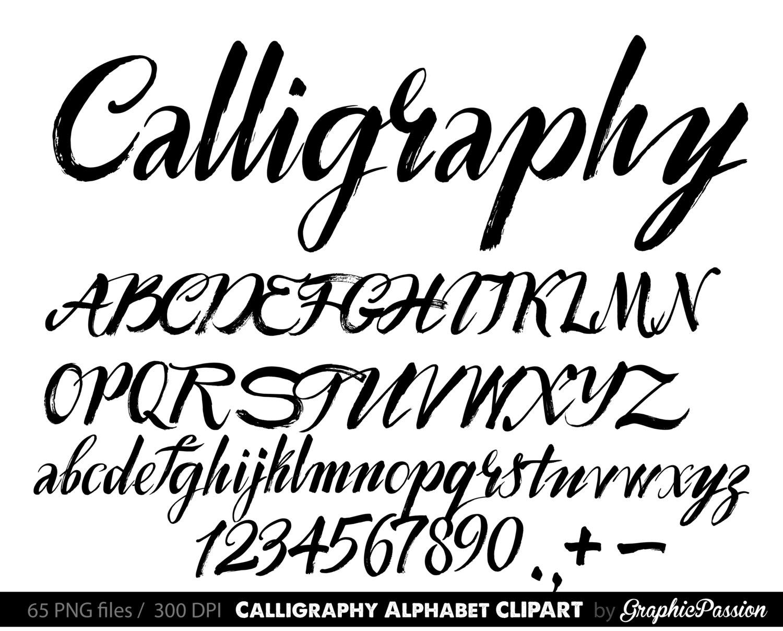 Calligraphy clipart Alphabet Calligraphic file clip art