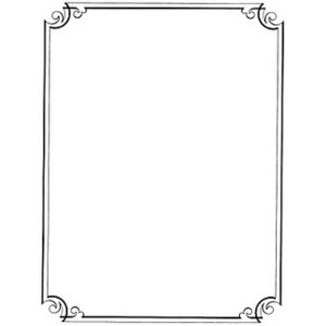 Calligraphy clipart classic border And Clip Borders Vintage Free