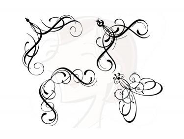 Calligraphy clipart corner Clipart for Corner Embellishment Embellishment