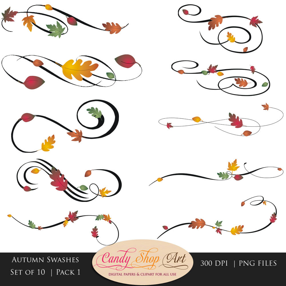 Calligraphy clipart creative 1 2 Buy Autumn Get