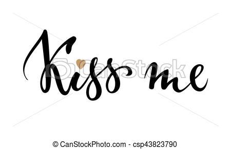 Calligraphy clipart creative Drawn drawn Kiss calligraphy creative