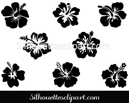 Calligraphy clipart flower silhouette GRAPHICS FLOWER more on on