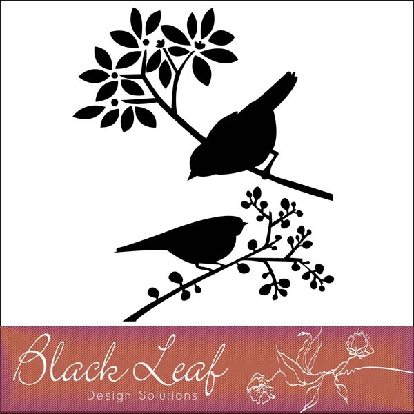 Calligraphy clipart flower silhouette By Printables Birds free on