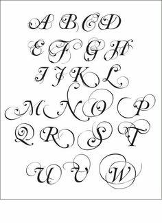 Calligraphy clipart font Szukaj  Pismo Idea alfabet