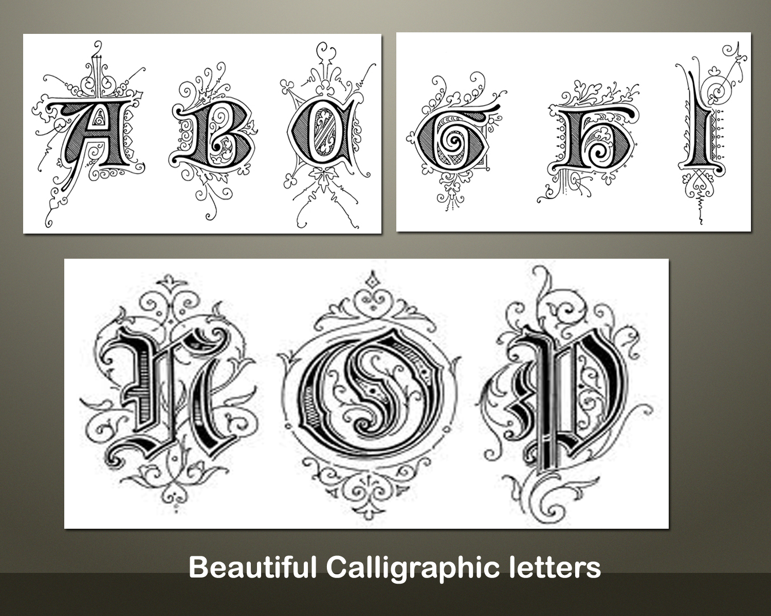 Calligraphy clipart font  is Letter Mary fonts