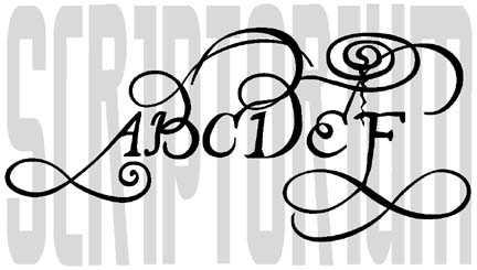 Calligraphy clipart font Com Fonts Fontcraft Scriptorium John