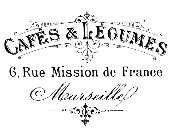 Calligraphy clipart french Transfer Graphics French Marseille Typography