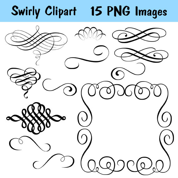 Calligraphy clipart microsoft word Images Swirl Swirl Clipart 121