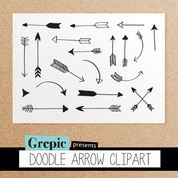 Calligraphy clipart tribal Archery clip from arrows pencil